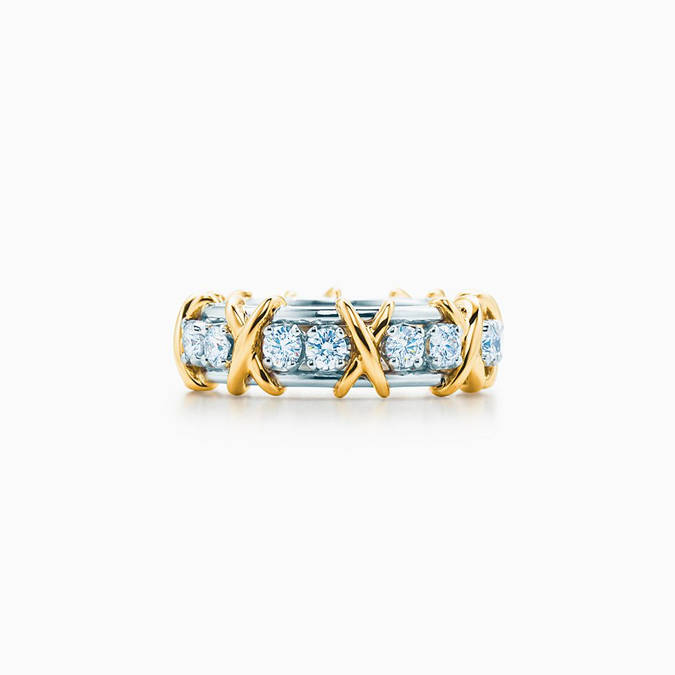 Diamond wedding bands tiffany