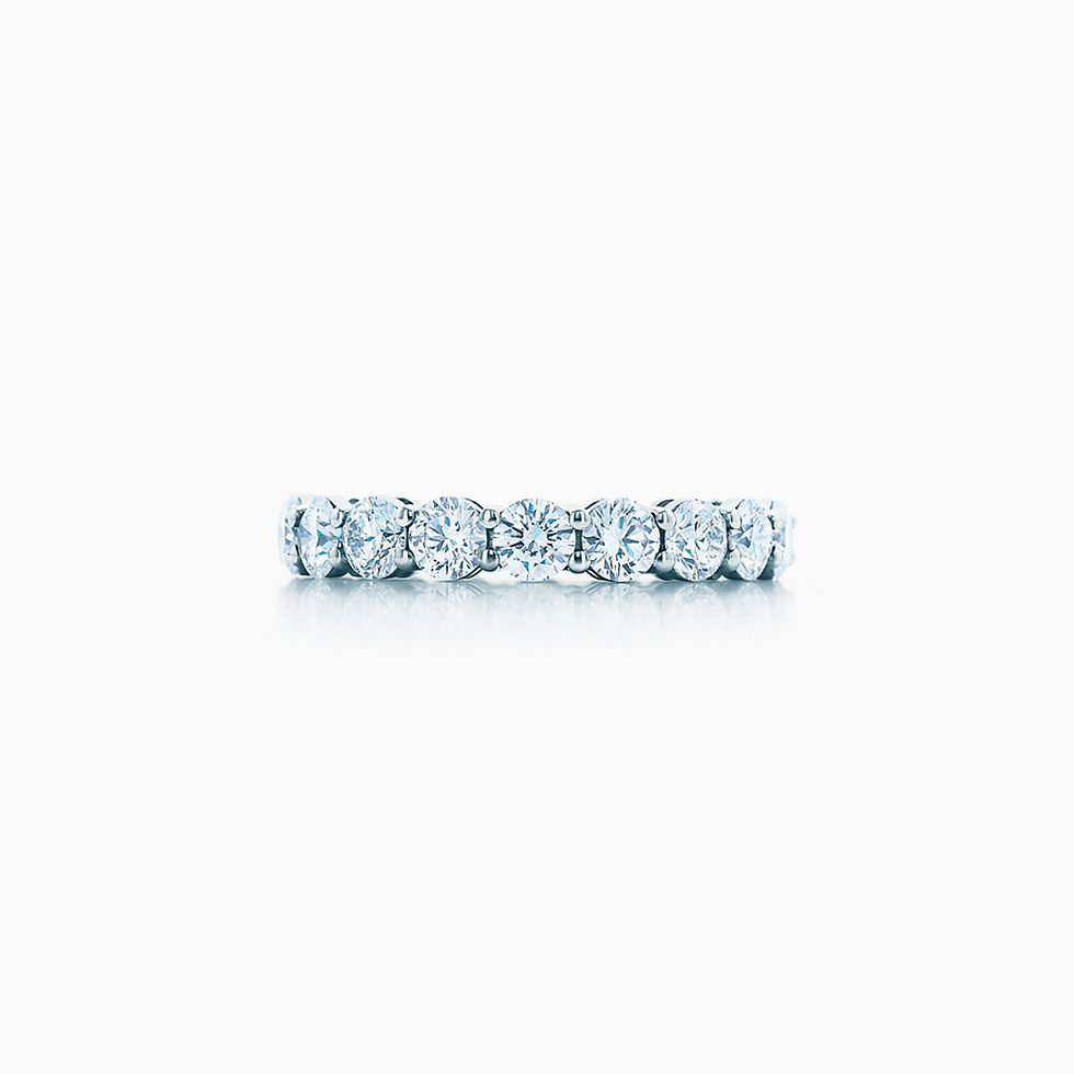 New Tiffany Embrace® Band Ring In Platinum With Diamonds, 37 Mm Wide