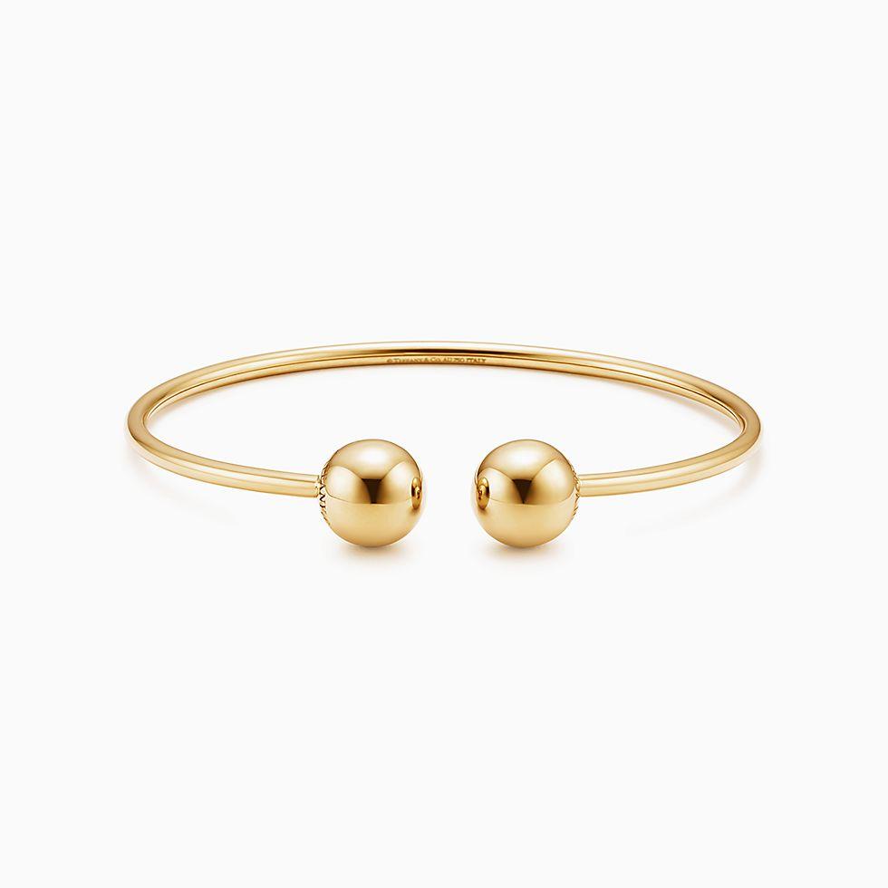 New Tiffany Hardwear Ball Wire Bracelet In 18k Gold, Medium