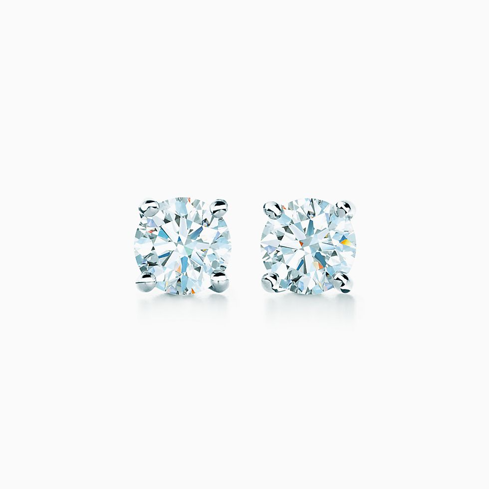 Drop A Hint For Tiffany Solitaire Diamond Earrings In Platinum Now