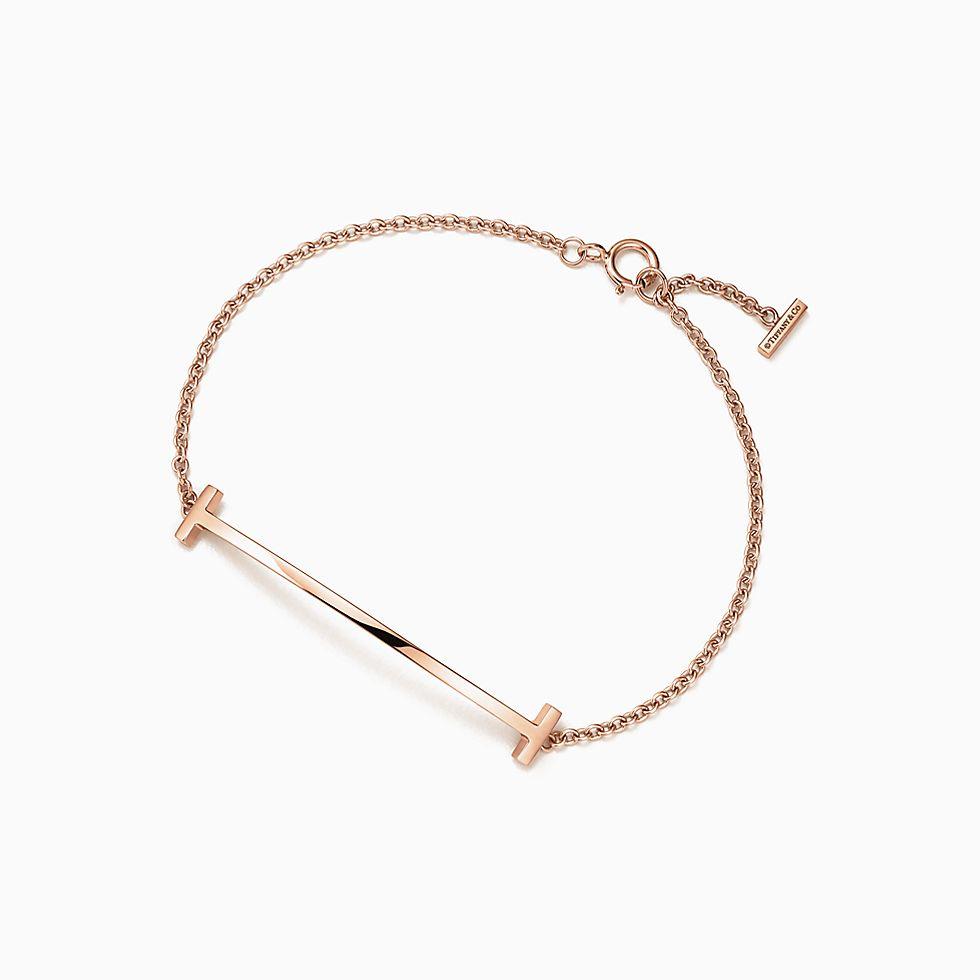 New Tiffany T Smile Bracelet In 18k Rose Gold, Medium