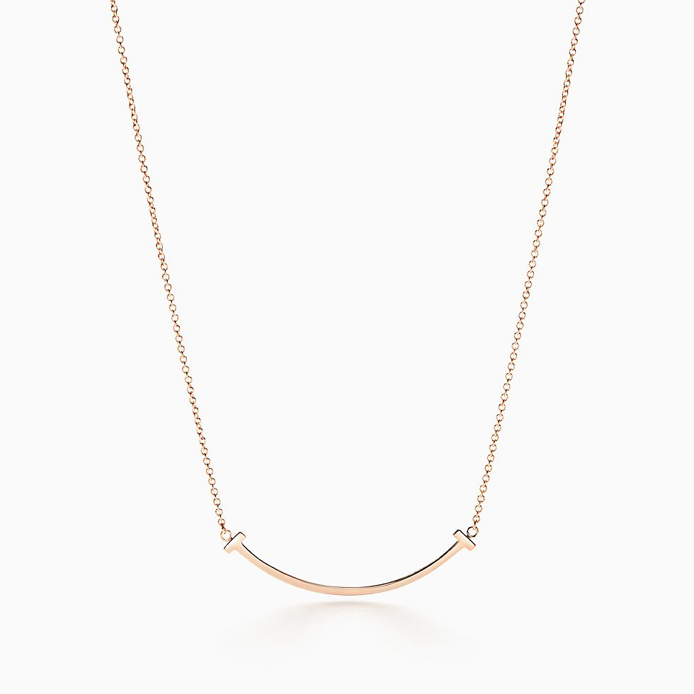 Drop A Hint Now For Tiffany T Smile Pendant In 18k Rose Gold Mini