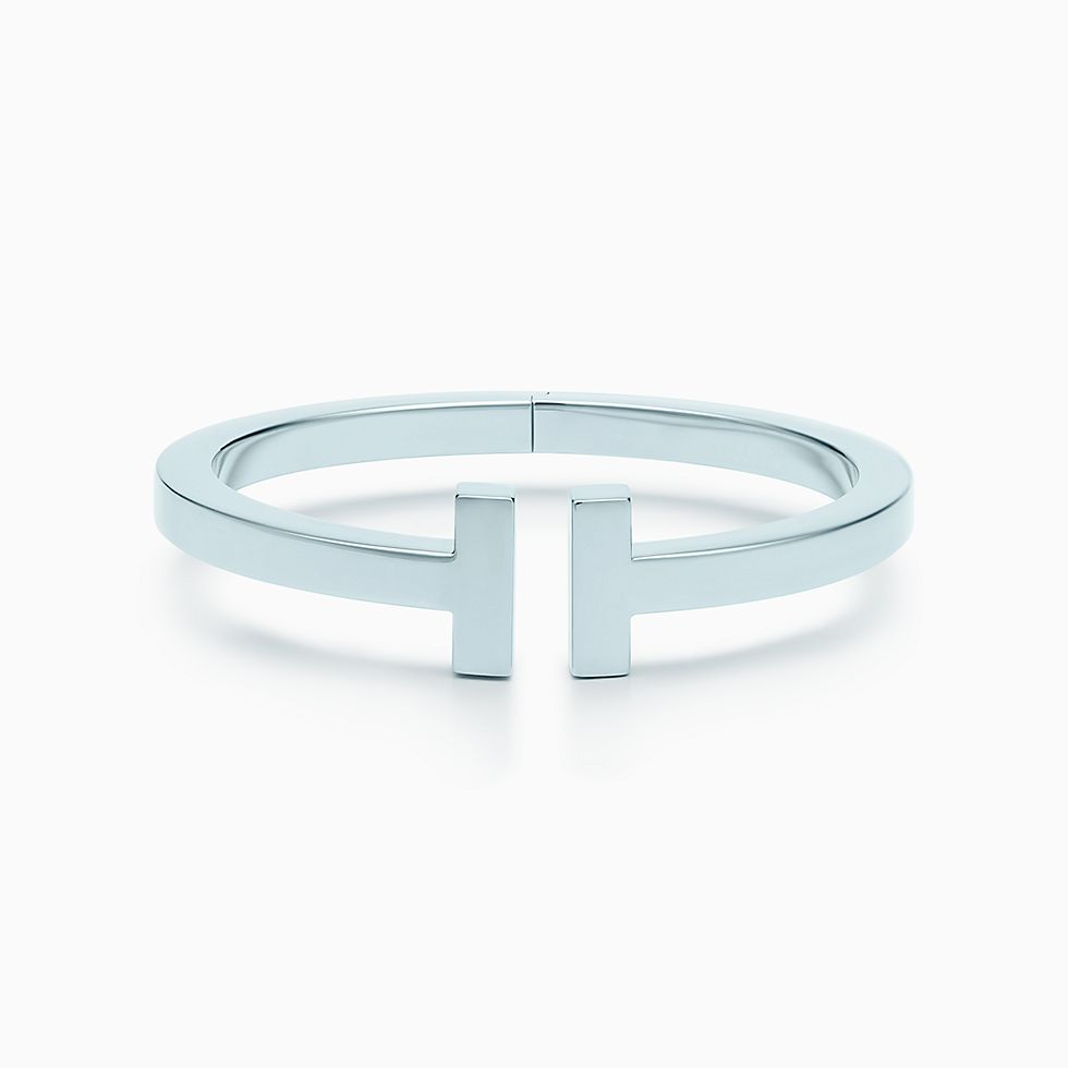 Drop A Hint Now For Tiffany T Square Bracelet In Sterling Silver Medium