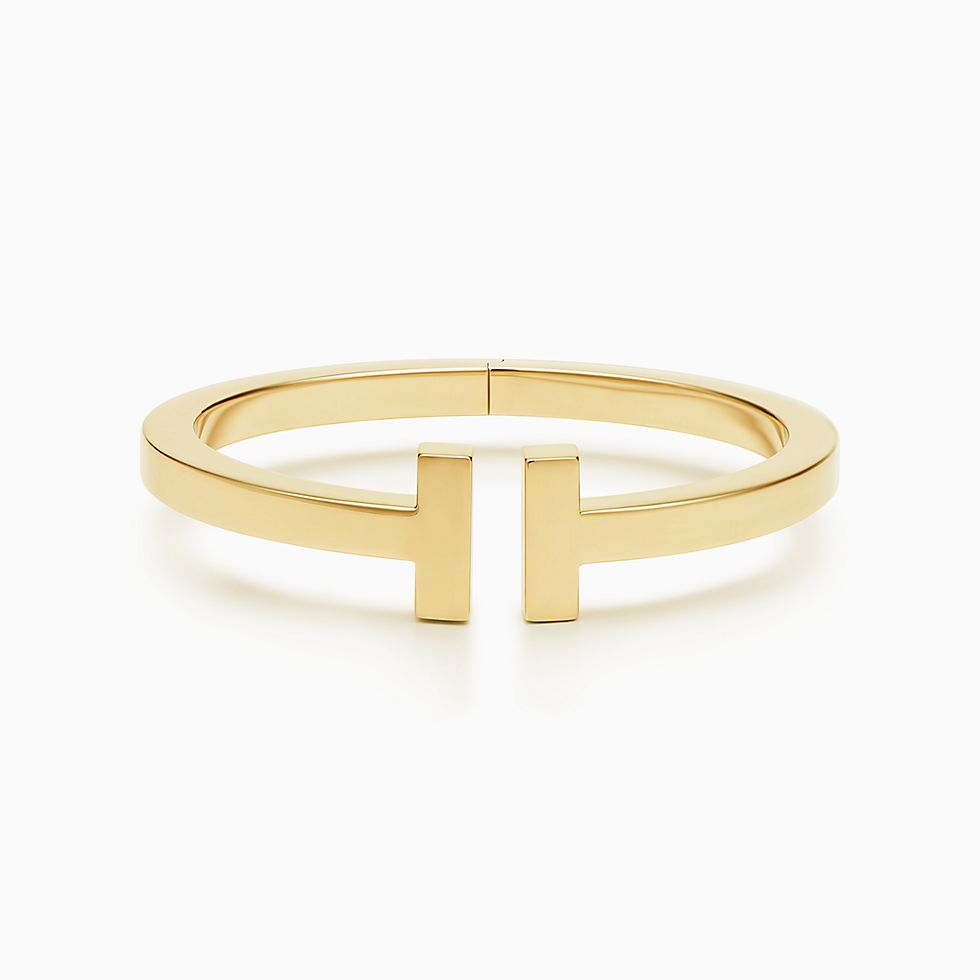Drop A Hint For Tiffany T Square Bracelet In 18k Gold Medium Now