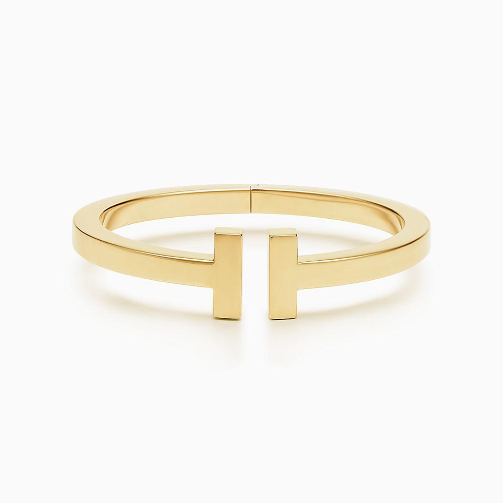 New Tiffany T Square Bracelet In 18k Gold, Large