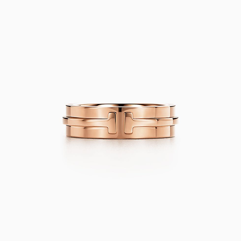 new tiffany t two ring in 18k rose gold