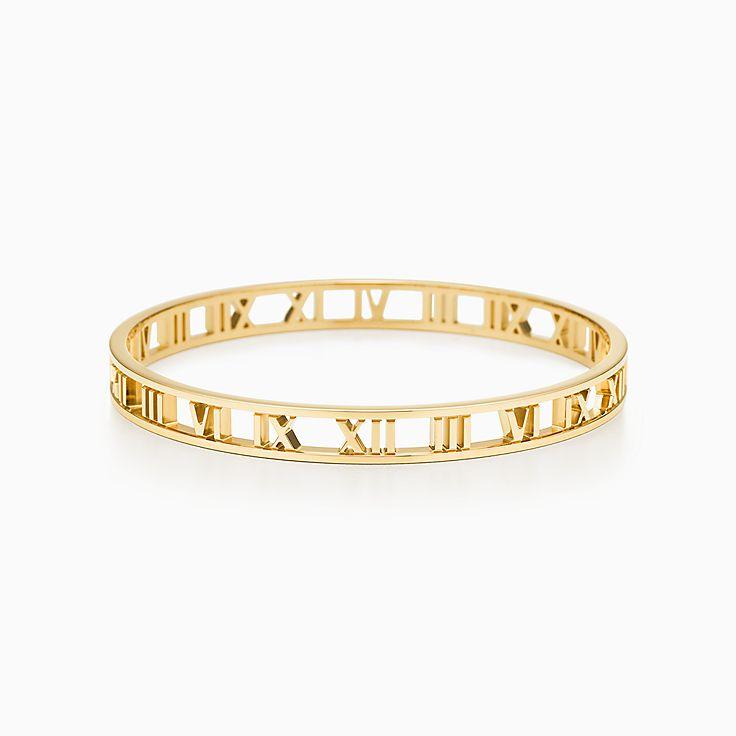 eaa0dfef3 ... 6mm; new atlas® narrow open bangle in 18k gold medium. tiffany co. tiffany  co. atlas roman numeral sterling silver and titanium ring ...