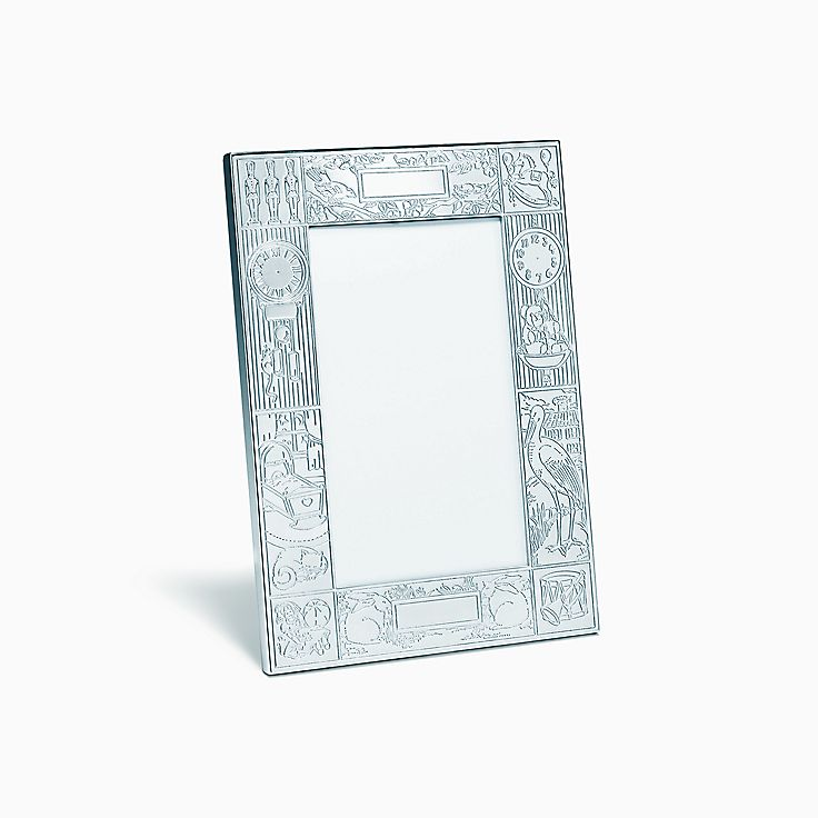 new birth record frame in sterling silver