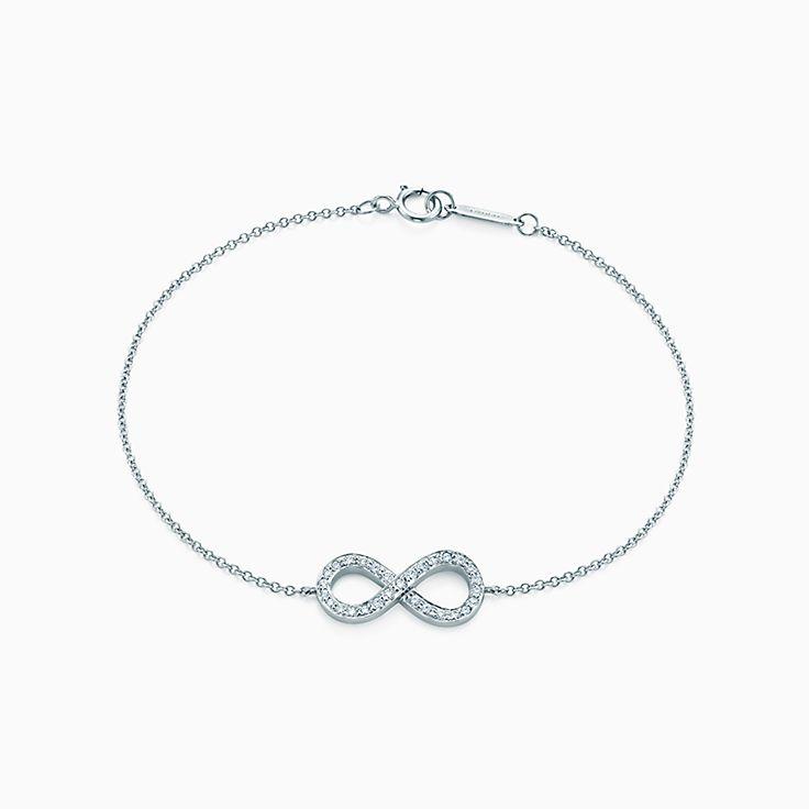 Nouveauté Bracelet Tiffany Infinity en platine et diamants. Small.
