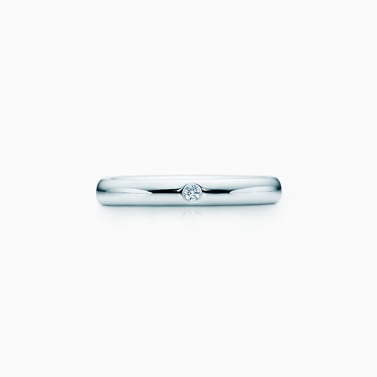 new elsa peretti band ring with a diamond in platinum - Wedding Rings And Bands