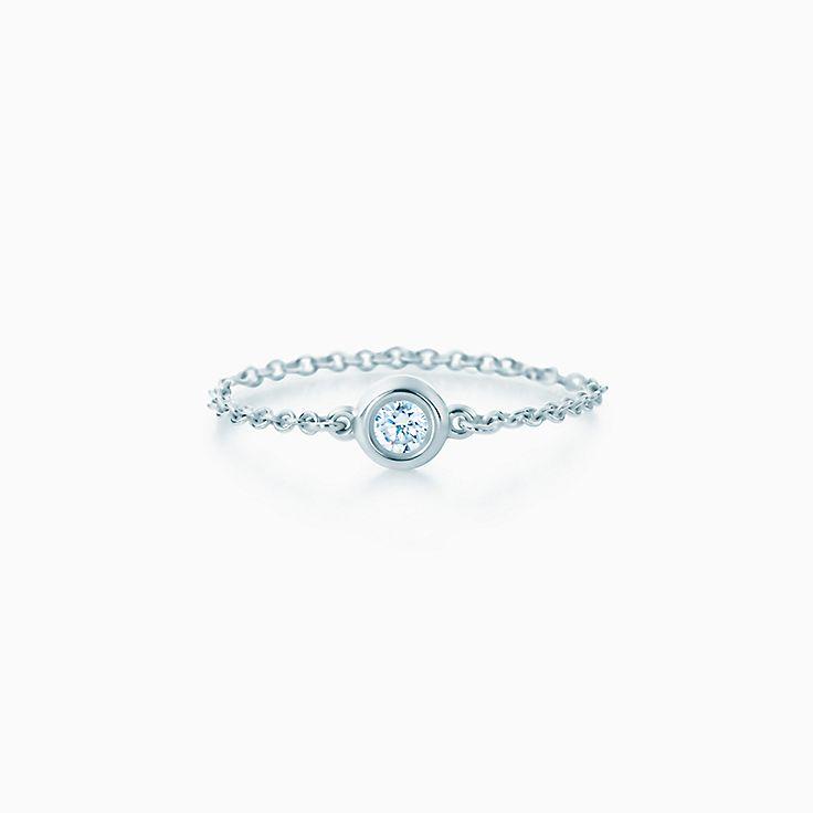 new elsa peretti diamonds by the yard ring in sterling silver - Elsa Peretti Color By The Yard Ring