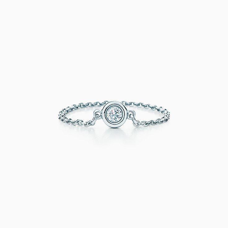 new elsa peretti diamonds by the yard ring in platinum - Elsa Peretti Color By The Yard Ring