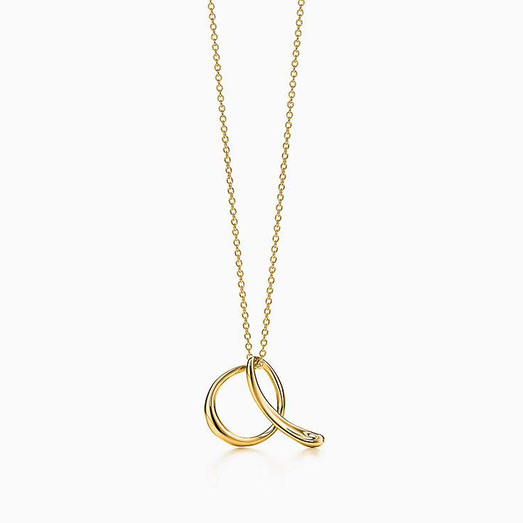 new elsa peretti alphabet pendant in 18k gold letters a z available