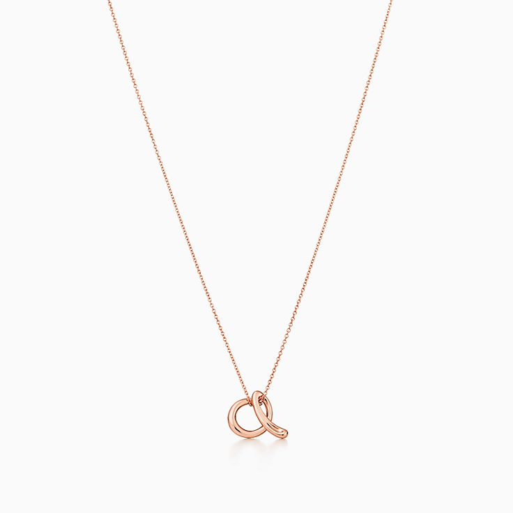 new elsa peretti alphabet pendant in 18k rose gold letters a z available