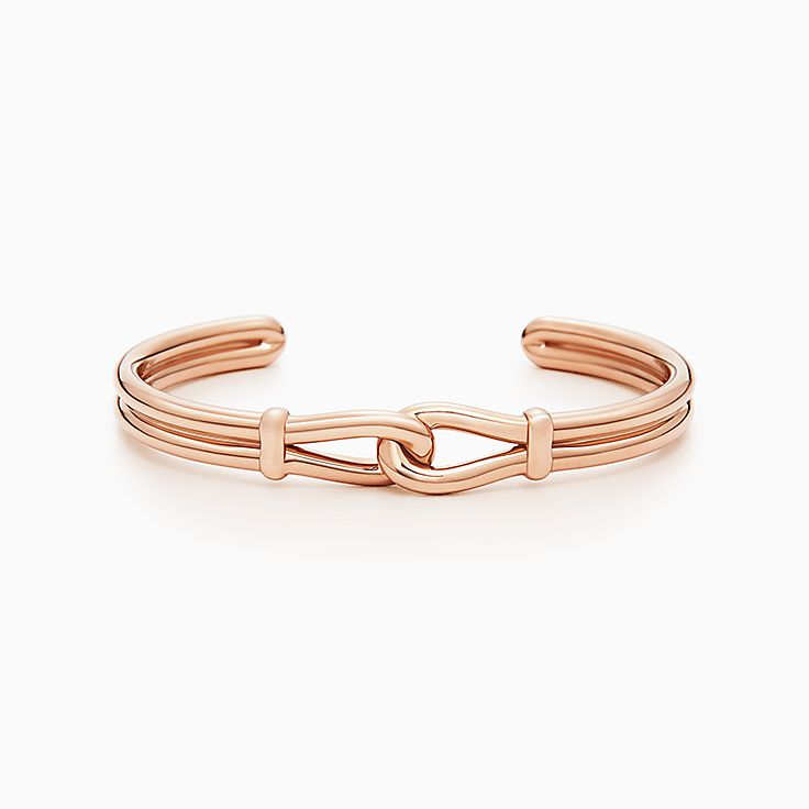 0d80406bf ... vintage tiffany co. paloma picasso sugar stacks blue topaz ring; new paloma  picasso® knot cuff in 18k rose gold medium.