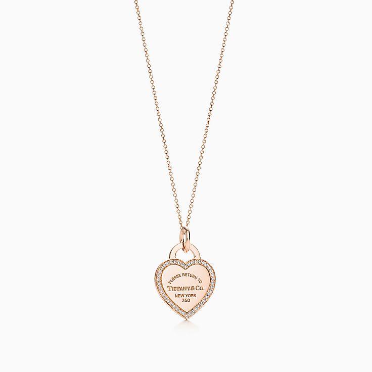 Weißgold kette mit herz  Halsketten für Damen- Rose Gold, Silber, Gold | Tiffany & Co.
