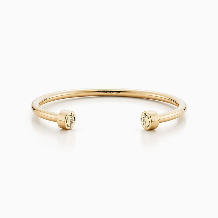 Narrow gold cuff bracelet