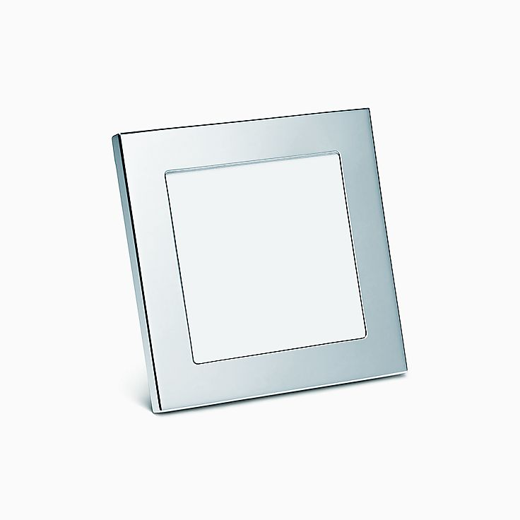 new square frame in sterling silver