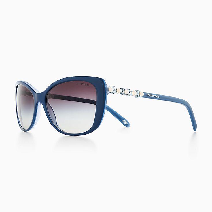 eyeglasses shades xn6y  New Tiffany Aria adagio cat-eye sunglasses in ice pearl acetate