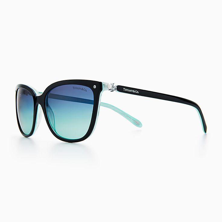 new tiffany aria concerto square sunglasses in acetate alternate fit