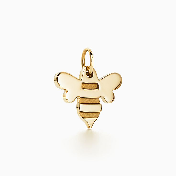 New Tiffany Charms honey bee charm in 18k gold.