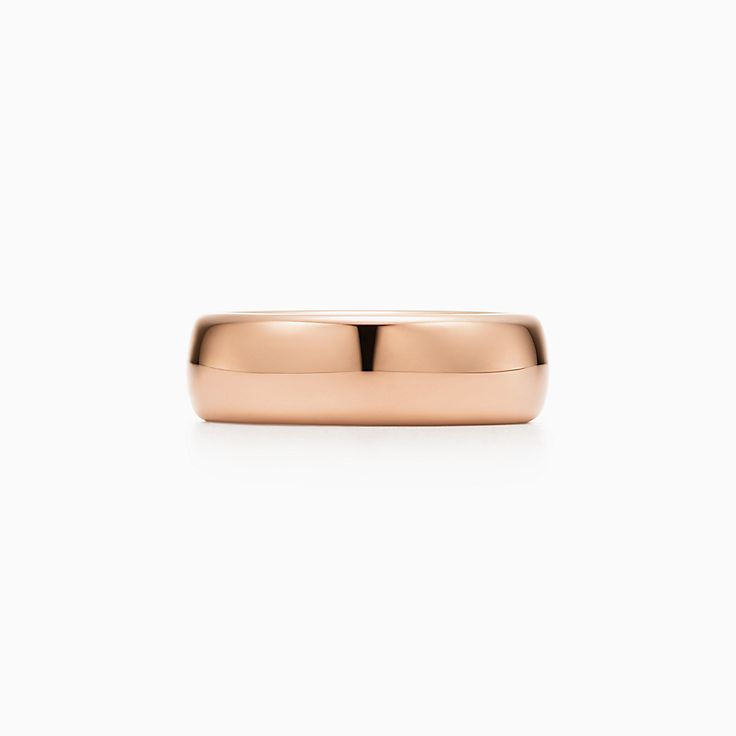 new tiffany classic wedding band ring in 18k rose gold 6 mm wide - Wedding Band Ring