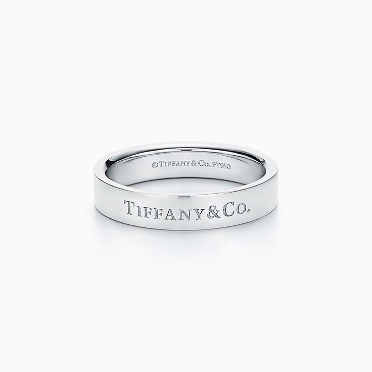 new tiffany co band ring in platinum 4 mm wide