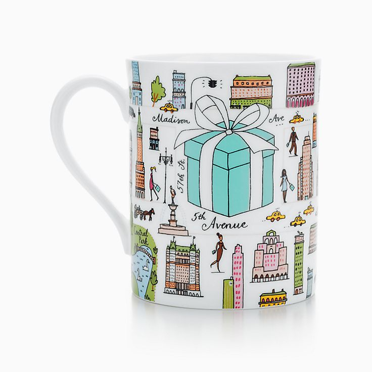 Tiffany & Co.® Fifth Avenue mug in bone china.