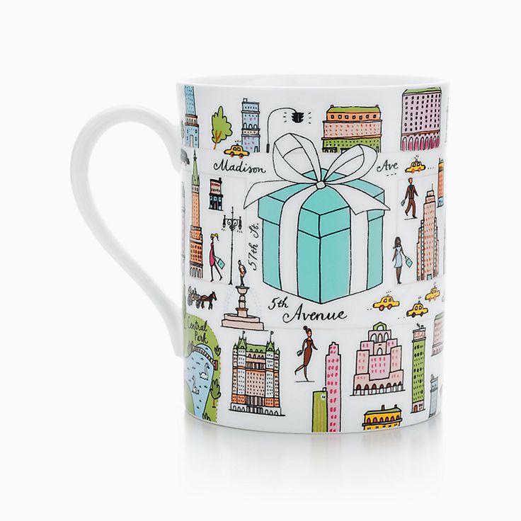 Tiffany & Co.® Fifth Avenue mug in bone china.