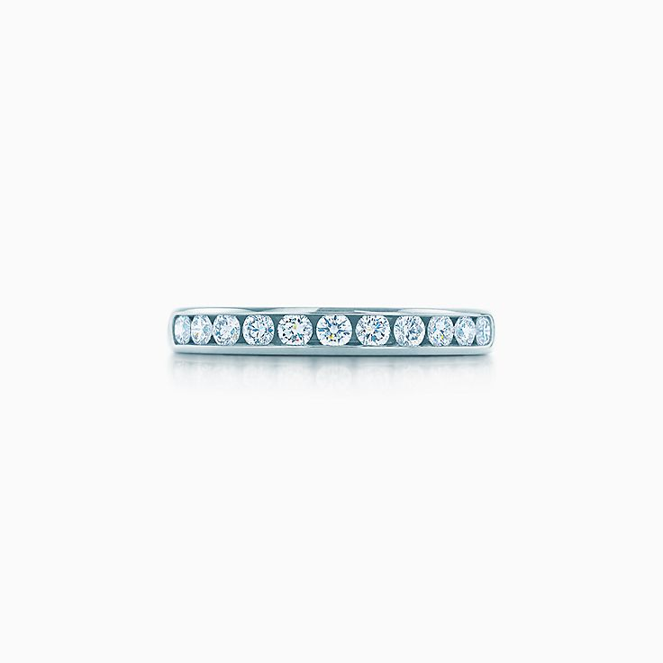 new tiffany diamond wedding band in platinum 3 mm wide