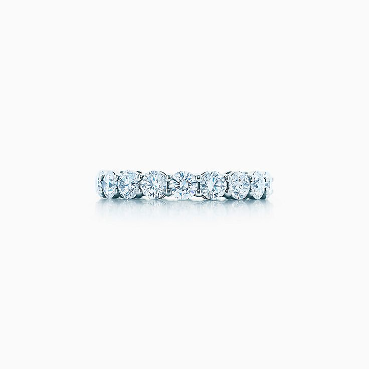 new tiffany embrace band ring in platinum with diamonds 37 mm wide - Women Wedding Rings