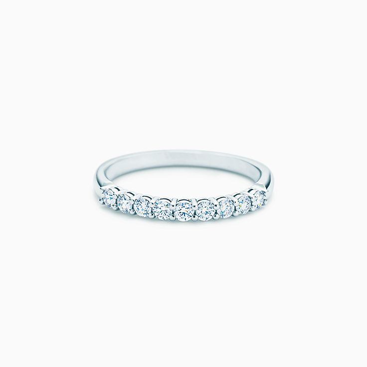 new tiffany embrace band ring in platinum with diamonds 22 mm wide - Wedding Band Rings