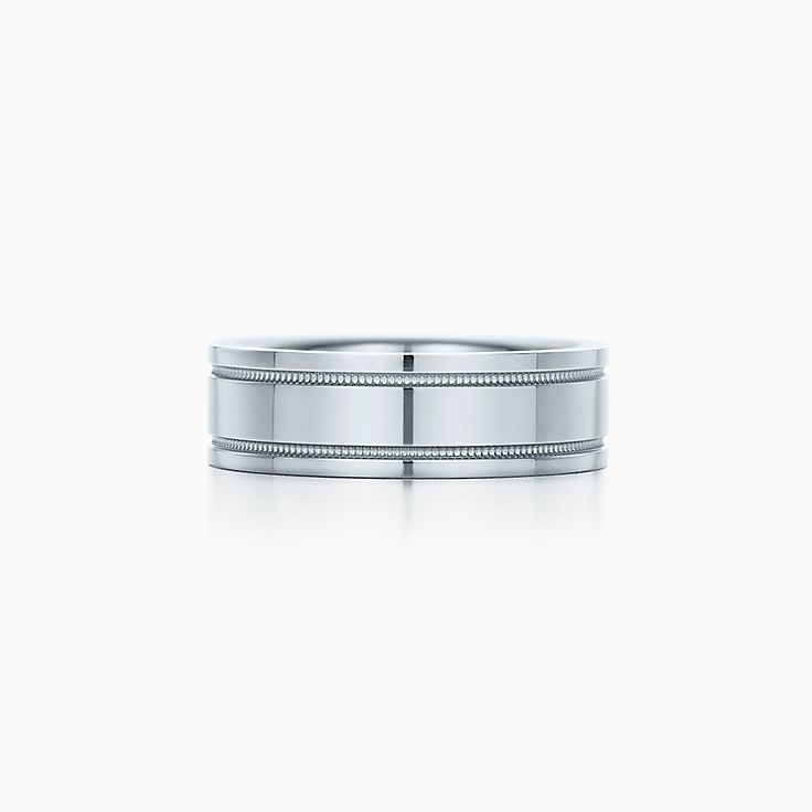 new tiffany flat double milgrain wedding band ring in platinum 6 mm wide - Tiffany Wedding Ring
