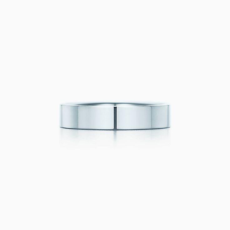 new tiffany flat wedding band ring in platinum 4 mm wide - Wedding Rings Platinum