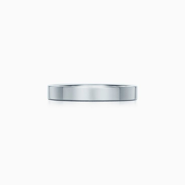 new tiffany flat wedding band ring in platinum 3 mm wide - Wedding Band Rings