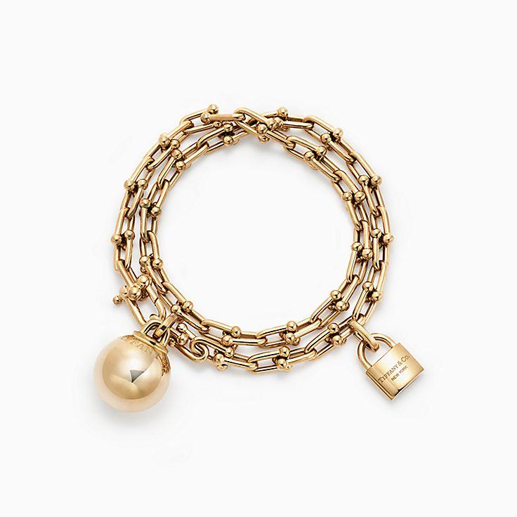 novedades tiffany hardwear brazalete envolvente en oro de quilates mediano