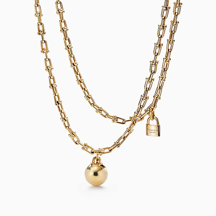 18k gold necklaces pendants tiffany co httpmediatiffanyisimagetiffanyecombrowsemtiffany hardwear wrap necklace 60700923980758sv1gopusm100100600defaultimage audiocablefo light Images
