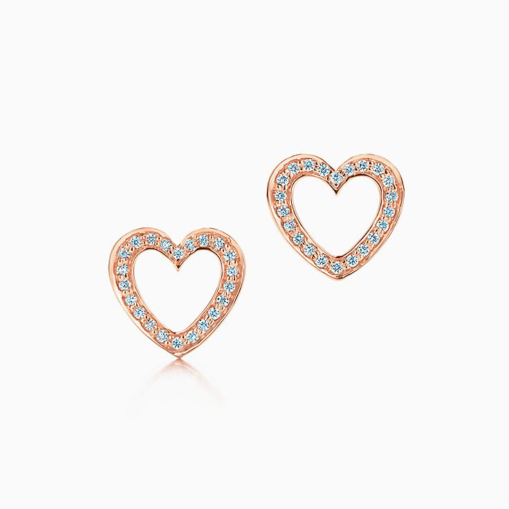 Jewelry Earrings Diamonds Tiffany Earrings Heart