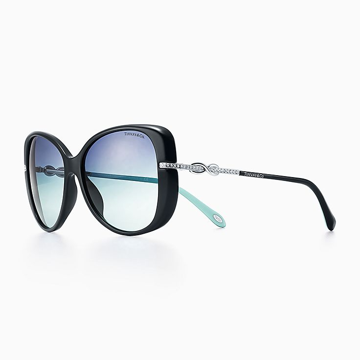 sunglasses on glasses hi8e  New Tiffany Infinity butterfly sunglasses in black and Tiffany Blue acetate