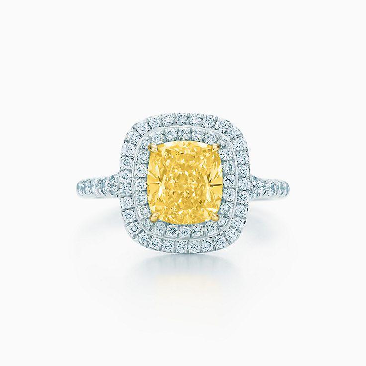 Gelber diamant ring – Dure sieraden met diamanten