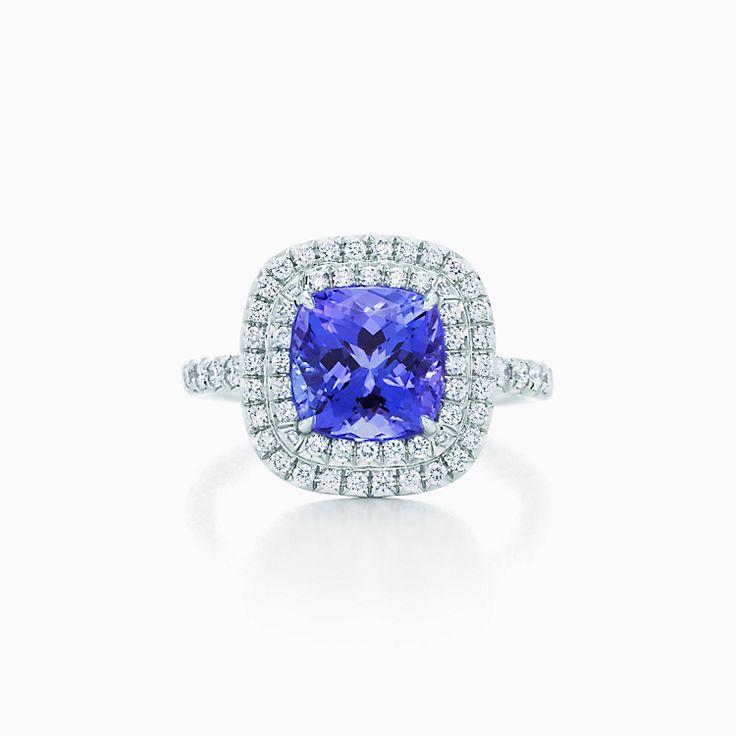 56f93066f ... new tiffany soleste ring in platinum with diamonds and a tanzanite.