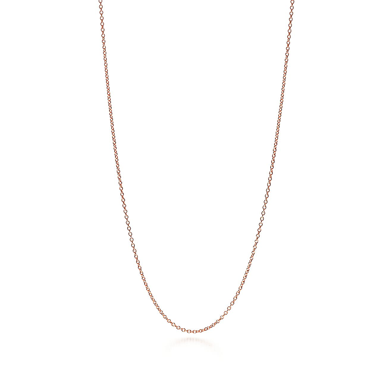Rose gold necklace chain tiffany co mozeypictures Choice Image