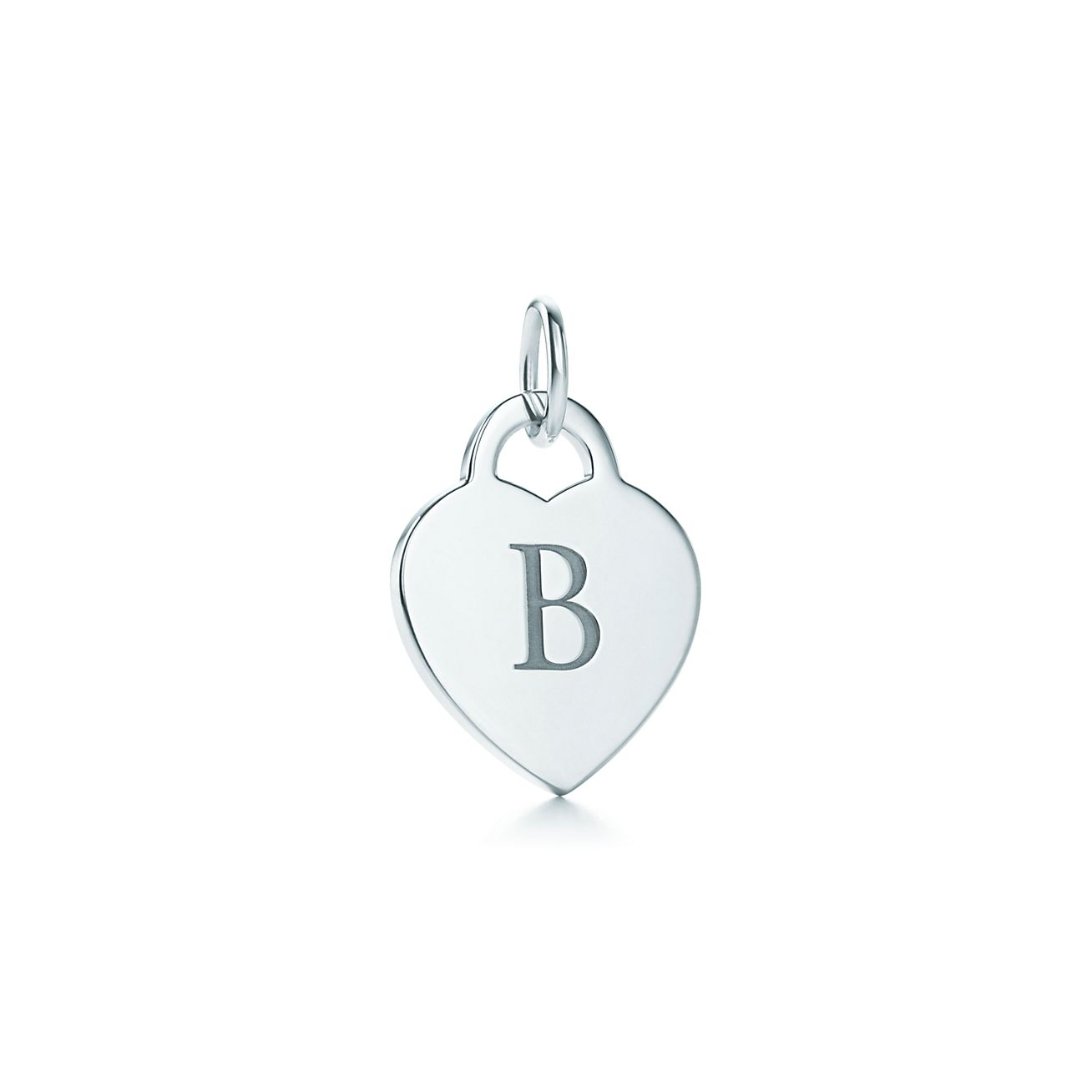 B Letter In Heart Alphabet heart tag let...