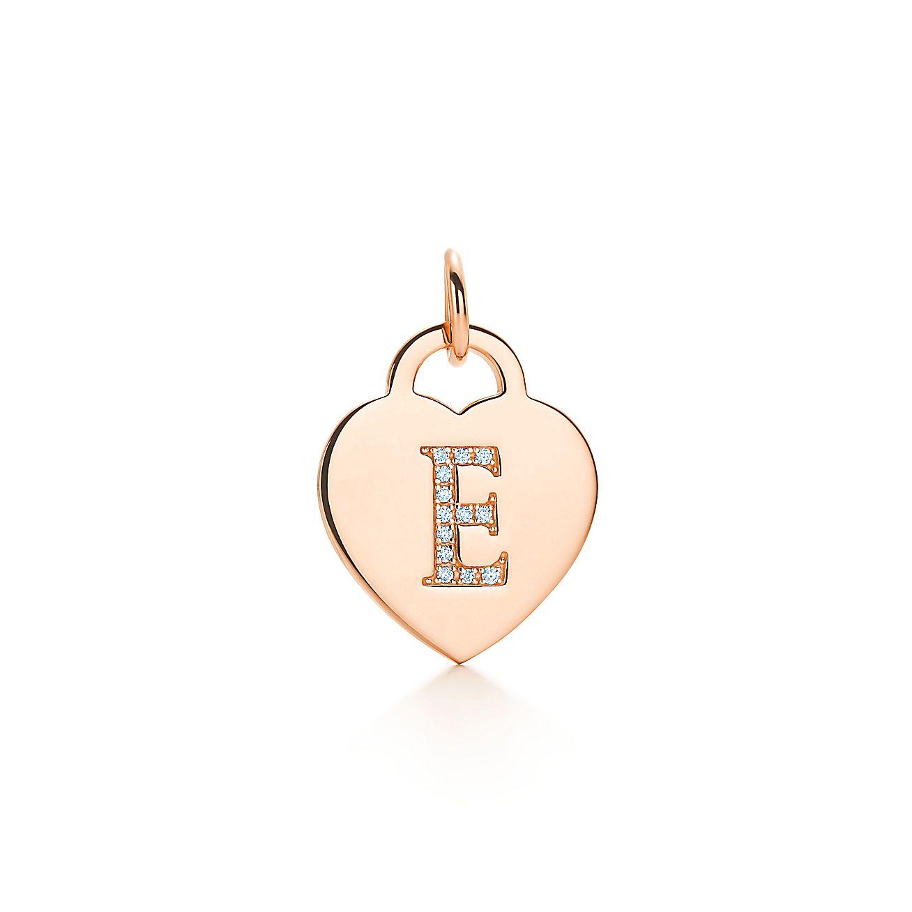"Alphabet Heart Tag<br>Letter ""E"" Charm"