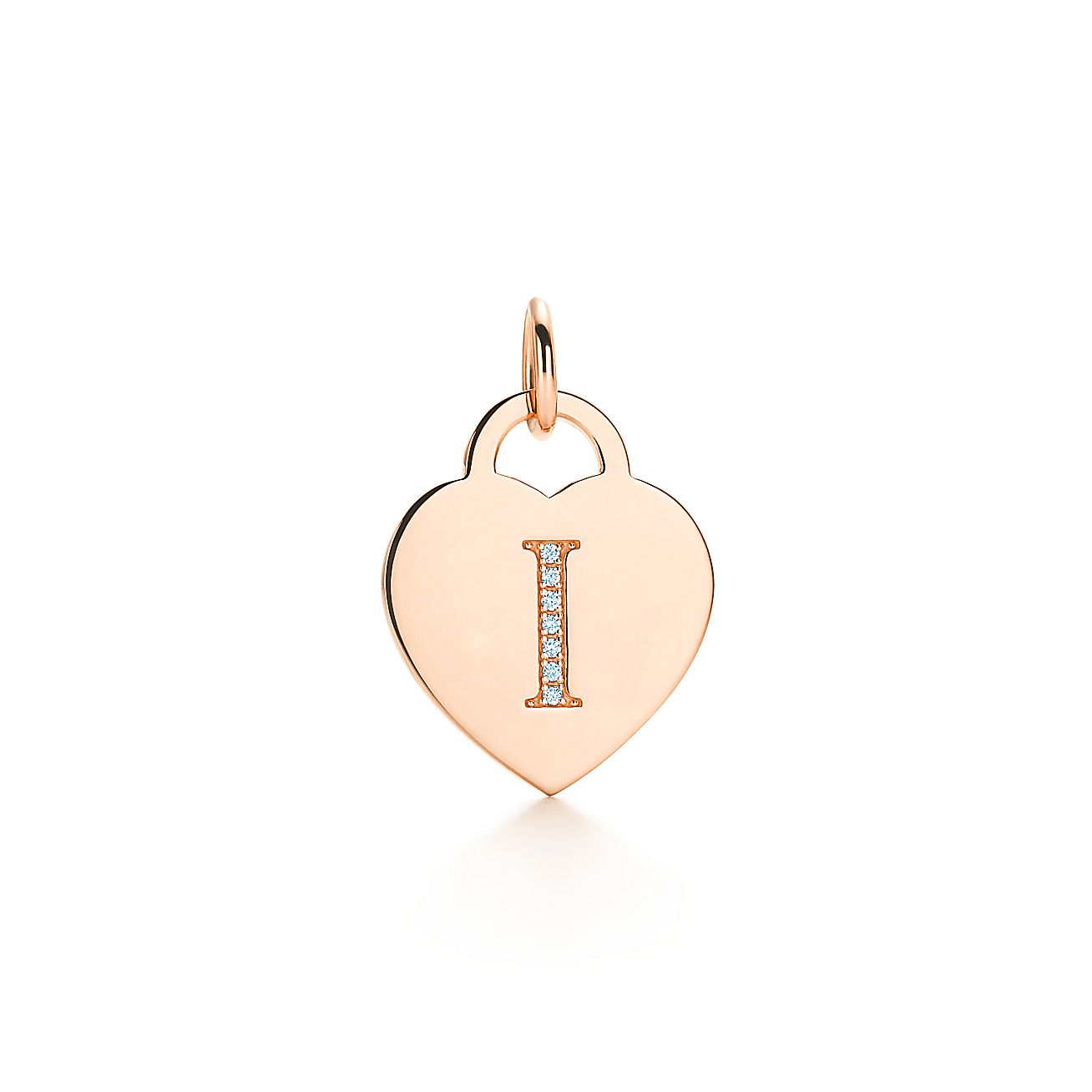 "Alphabet Heart Tag<br>Letter ""I"" Charm"