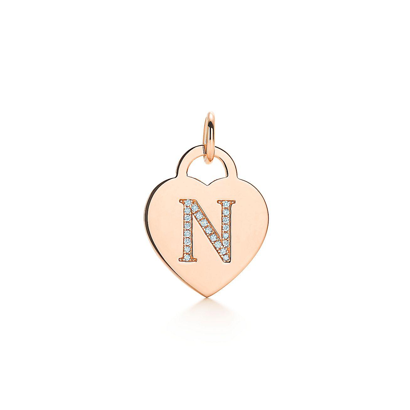 "Alphabet Heart Tag<br>Letter ""N"" Charm"