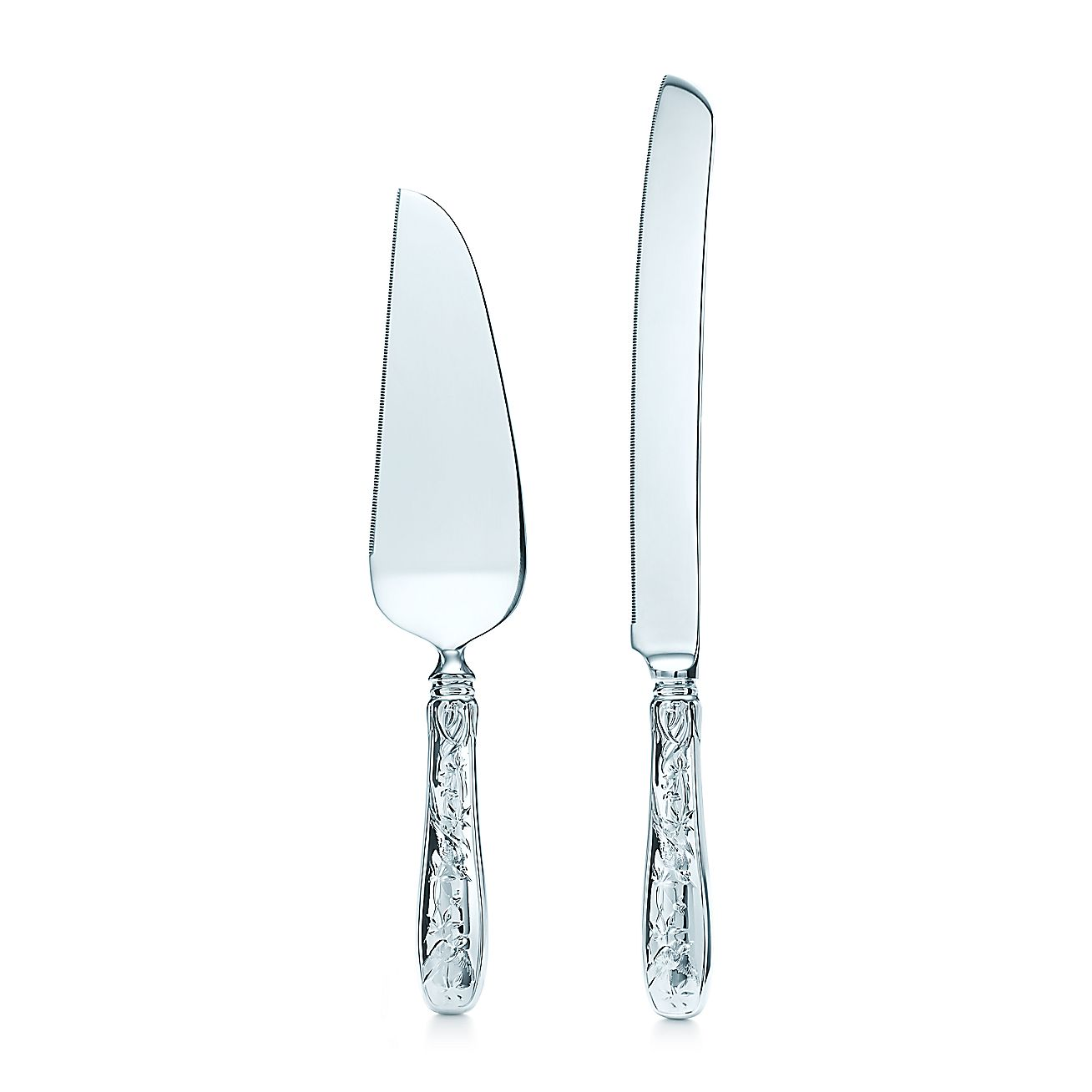 Audubon Cake Knife And Server In Sterling Silver