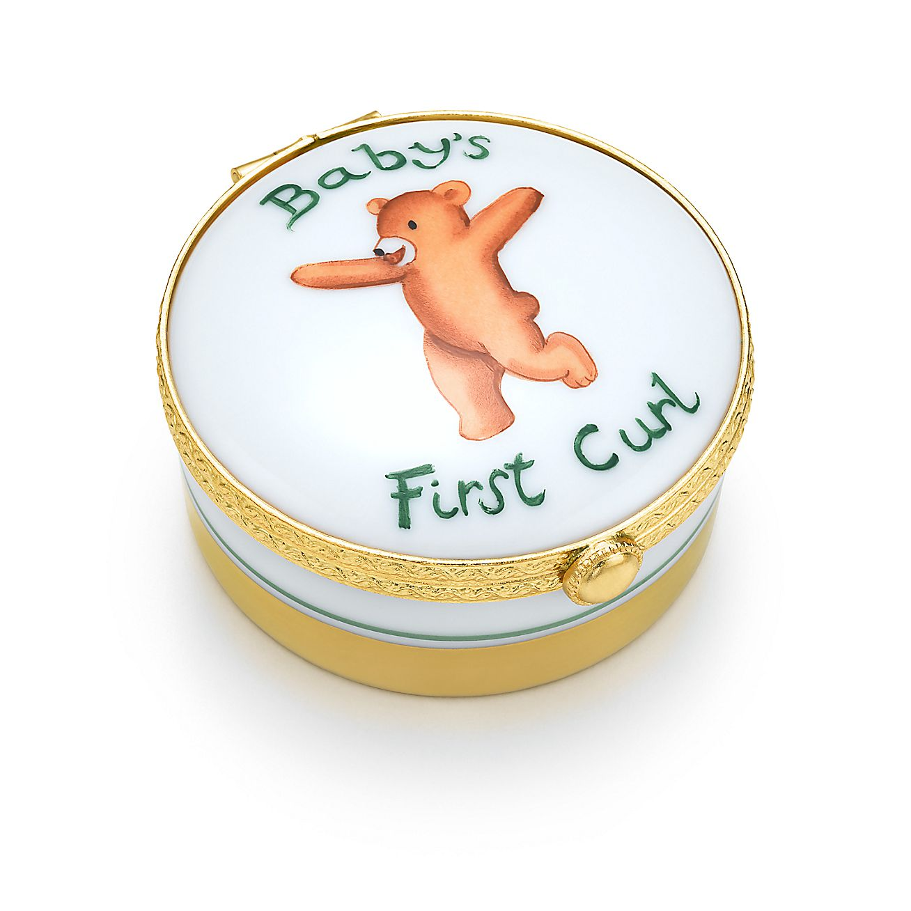 Tiffany Baby Gifts Australia : Baby s first curl box in hand painted limoges porcelain