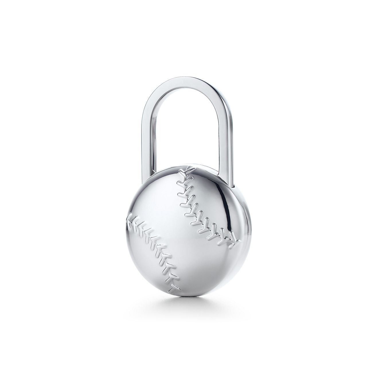 baseball key ring in sterling silver co