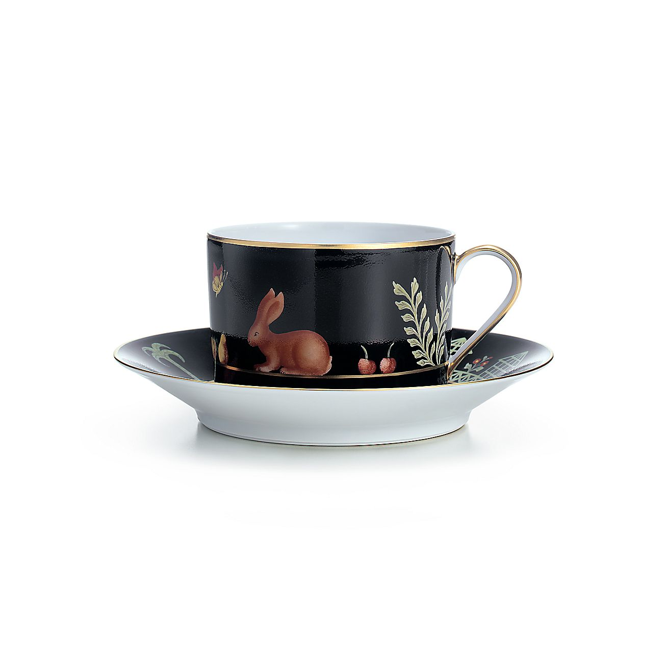 Black Shoulder:Breakfast Cup and Saucer